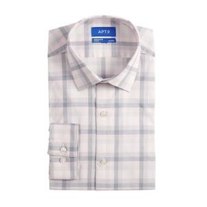 New Apt 9 Slim-Fit Flex Collar Stretch Dress Shirt